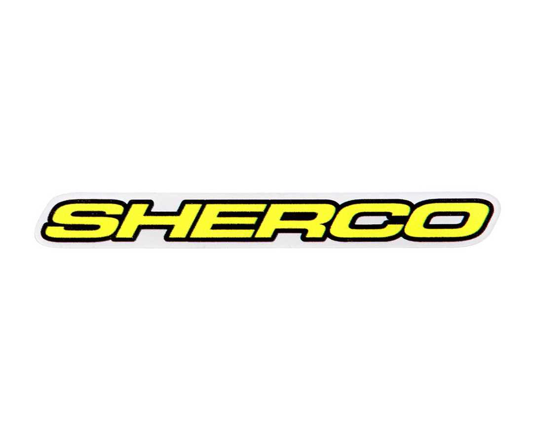 SHERCO DECAL (WHITE)