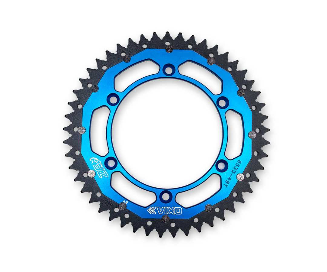 BLUE REAR SPROCKET STEEL/ALLOY 49T